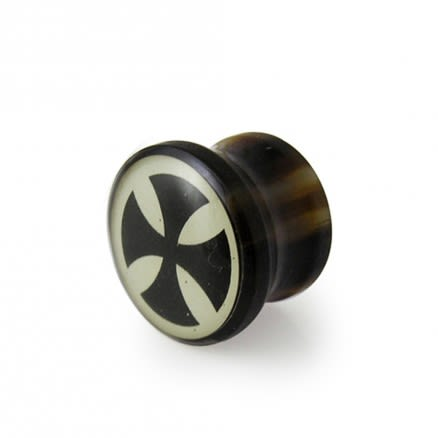Synthetic Organic Irish Cross Ear Plug With Logo
