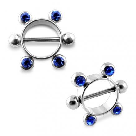 Sapphire Gem Steel Nipple Rounder