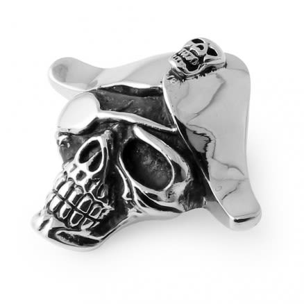 Stainless Steel Pirates Skeleton Pendant