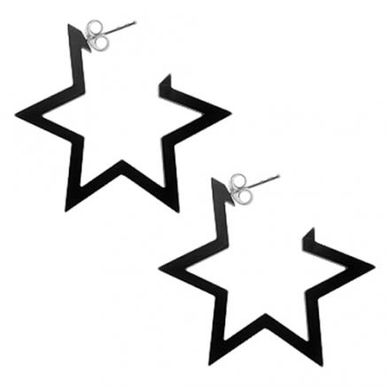 28mm Black UV 6 Star Ear Hoop