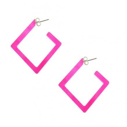 26mm Pink UV Diamond Ear Hoop