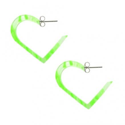Peridot UV Heart Ear Hoop