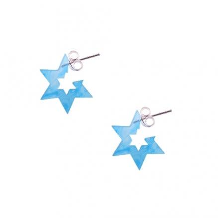 6mm UV React 6 Star Ear Hoop Studs