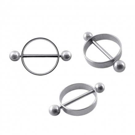 16mm Titanium Nipple Rounder with Balls