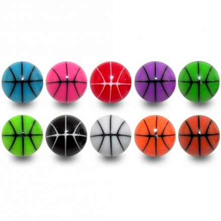 UV Fancy Single Strips Basketball Print Loose Balls