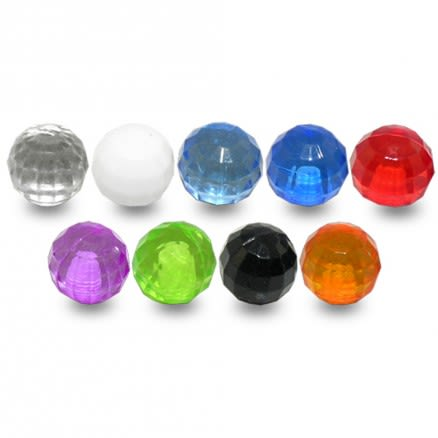 Fancy Plian Colors Round Ball Charms Acrylic Loose Beads