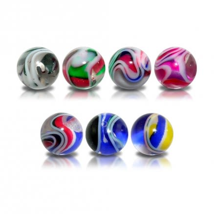 UV Colorful Hand Painted Fancy Marble Color Ball