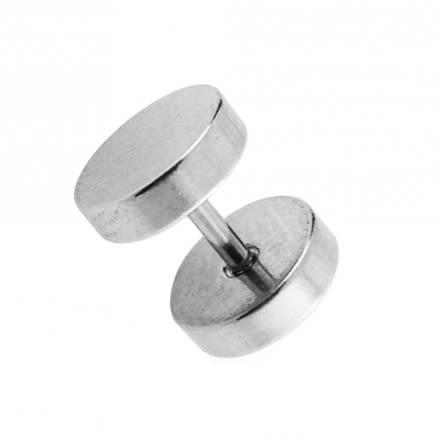 Surgical Steel Disc Fake Ear Plug