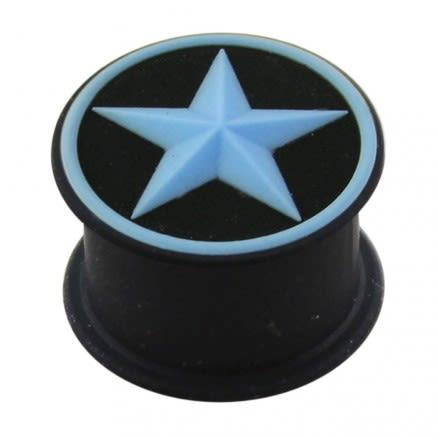 Embossed Aqua Star Silicone Ear Plug