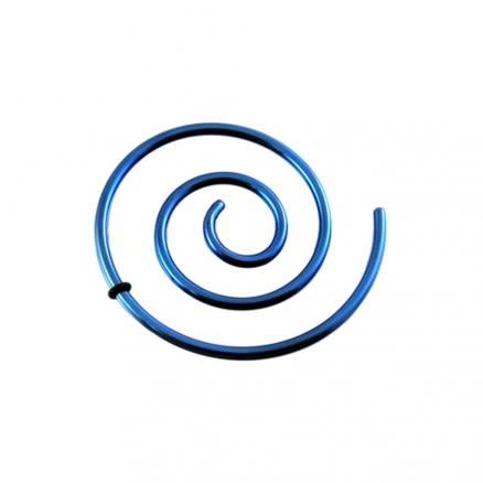 Anodized Dark Blue Spiral Ear Plug Expander