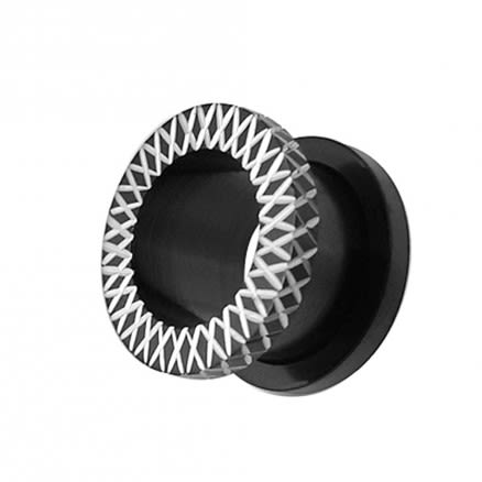 Blackline Laser Cut Ear Flesh Tunnel