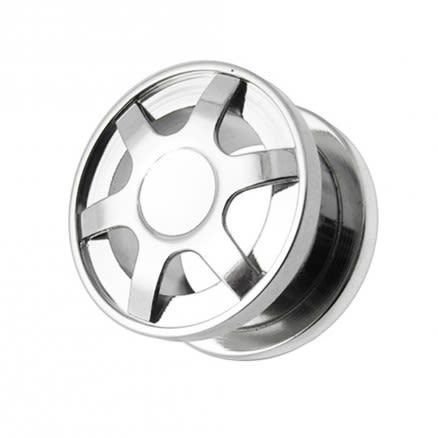 SS Alloy Wheel Screw Fit Flesh Tunnel