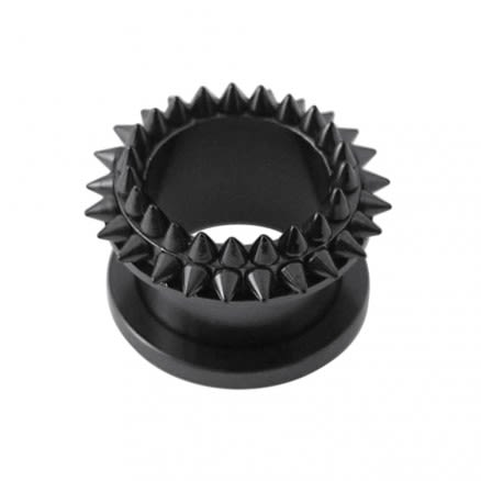 Blackline Screw Fit Ear Flesh Tunnel ZER263