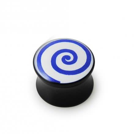 Double Flared Swril Logo Ear Plug