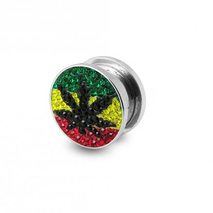 Weed Marijuana Crystal stone Flesh Tunnel