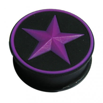 Silicone Color Changing Star Ear Plugs - Purple