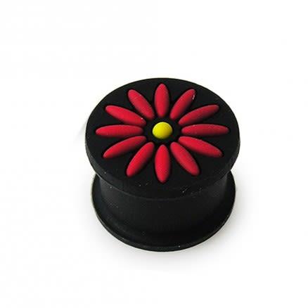 Embossed Flower Silicone Ear Plug