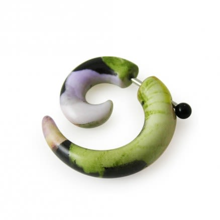 Spiral Fake DartFrog Ear Plug Expander