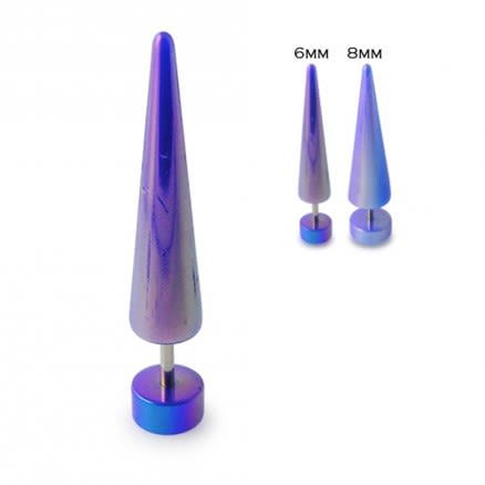 6mm Plain Straight Fake Ear Plug