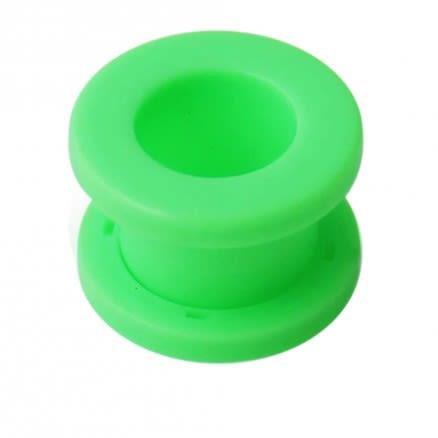 Neon Colored Green Screw Fit Ear Flesh Tunnel