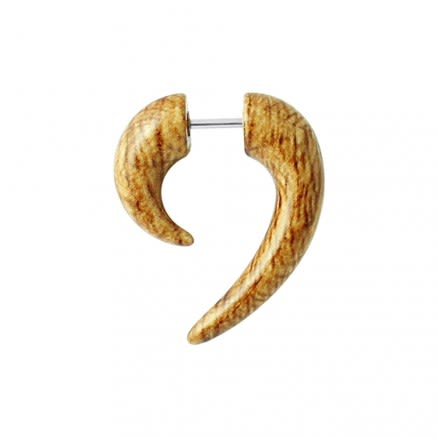 Wooden Marble Spiral Tail Fake Ear Plug