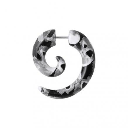 Python Pattern Spiral Fake Ear Plug