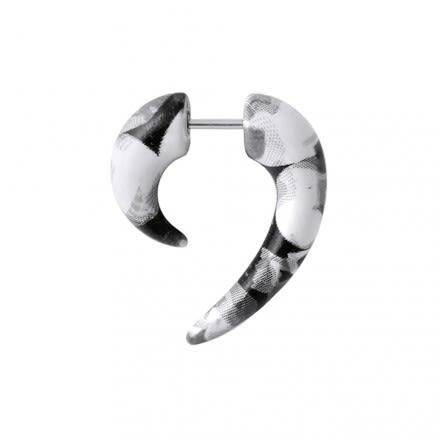 Python Pattern Spiral Tail Fake Ear Plug