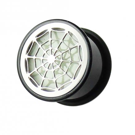 Glow In The Dark Spider Web Plate Ear Plug
