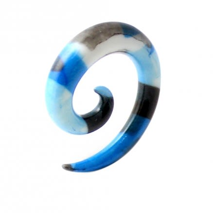 Blue and Black Pattern Ear Expander