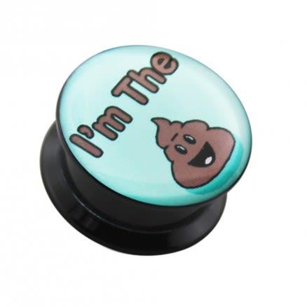I'm the Poop Logo UV Internal Screw Fit Ear Tunnel