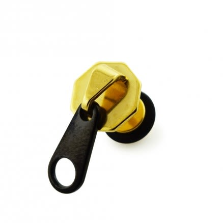 PVD Plated Zipper Head Invisible Fake Ear Plug
