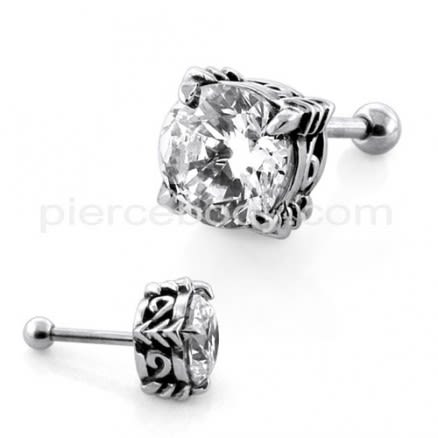 Round Jeweled Casting Invisible Ear Plug