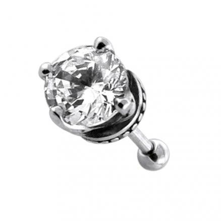 Claw set Jeweled Casting Invisible Fake Ear Plug
