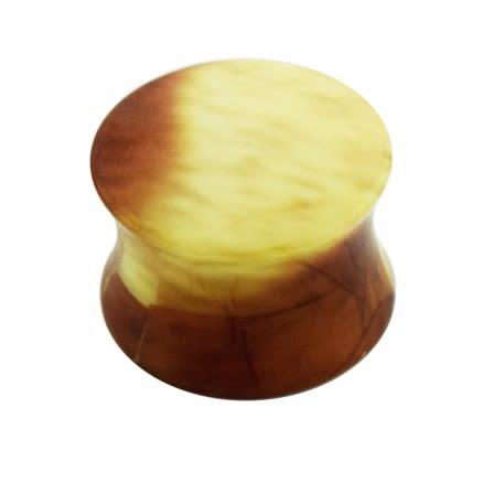 Marble Pattern UV Acrylic Double Flared Ear Plug
