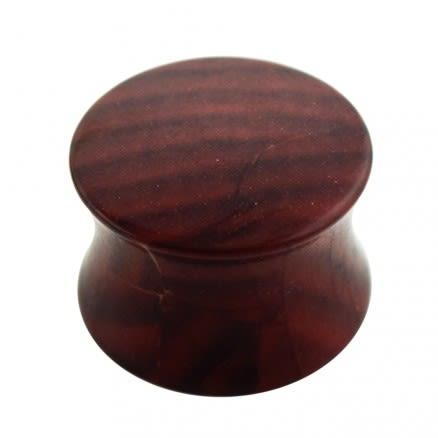 Plain Brown Wood Pattern UV Acrylic Double Flared Saddle Plug