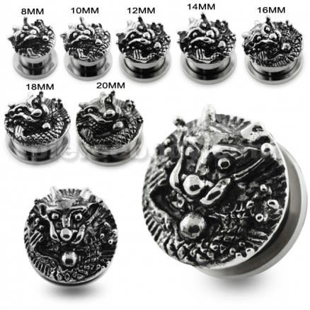 Pierced Dragon Screw Fit Flesh Tunnel