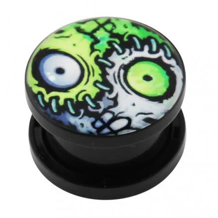 Zombie Eyes Logo UV External Screw Fit Ear Flesh Tunnel Gauges