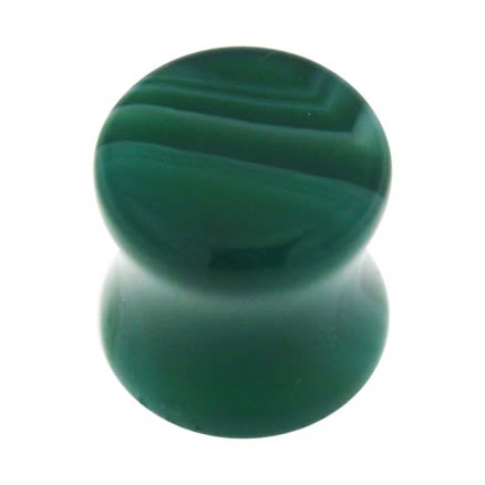 Colorful Synthetic Malachite Stone Saddle Ear plug Gauges