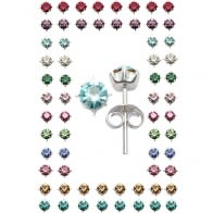 3MM Square Stone Birthstone Earring Tray