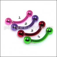 Anodized Eyebrow Curved Barbell Body Jewelry