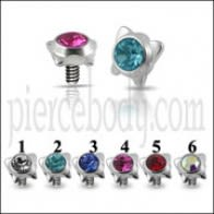 Butterfly Jeweled Dermal Anchor Tops | Dermal Anchors