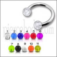 SS Circular Barbells with UV Balls