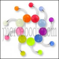 Belly rings with Glow balls