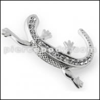 925 Sterling Silver Jeweled Lizard Pendant