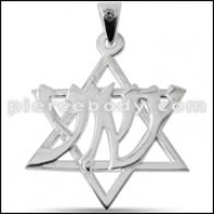 925 Sterling Silver Jeweled Tribal Star Pendant
