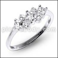 K1BO Fashion Vintage Dazzling Women Crystal Rhinestone Finger Ring