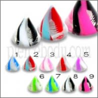 UV Fancy Cones With Multi Colorful Design