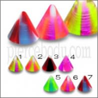 UV Fancy Cones Piercing Body Jewelry