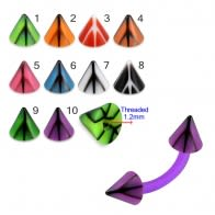 UV Fancy Colorful Peace Sign Cone