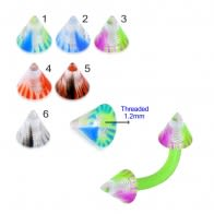 UV Fancy Colorful Marble Cone